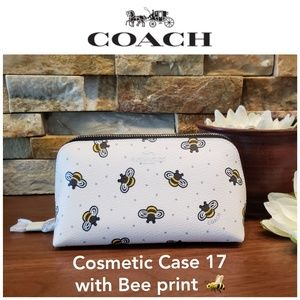 NEW Coach Bumble Bee Cosmetic Case w/ gift box